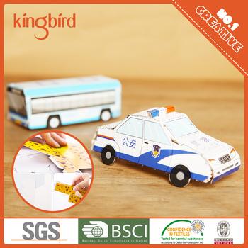 DIY 3D Paper Toy Art Craft Origami Cars Vans