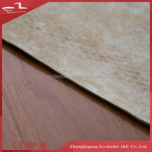 Rubber underlay for laminate
