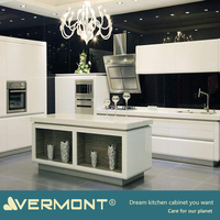 2018 Vermont New Design Melamine Board Ghana Kitchen Cabinet With Affordable Price