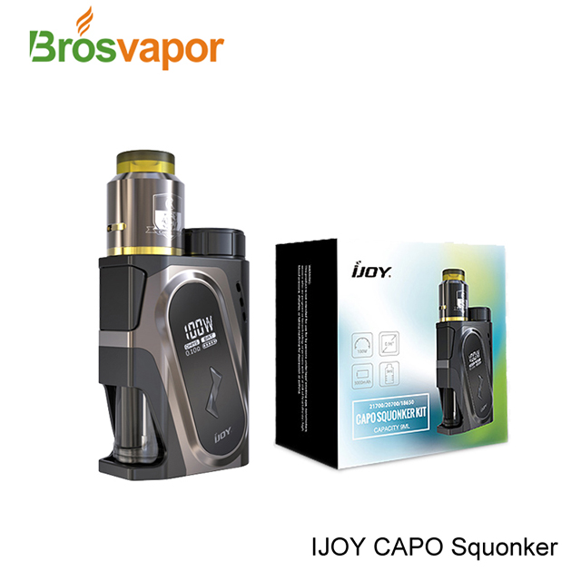 Latest Squonk 9ml 3000mah 100W IJOY CAPO Squonk Kit with Hassle-free building RDA