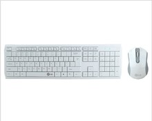 Putih Ultra Tipis Wireless Keyboard dan Mouse Combo Set Wireless Keyboard untuk <span class=keywords><strong>hisense</strong></span> pintar tv Desktop Laptop PC