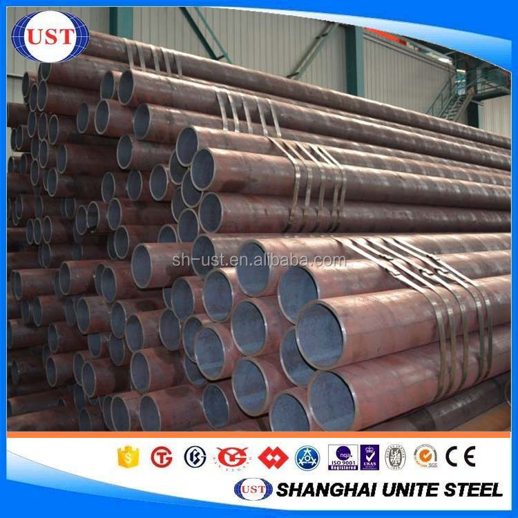 Hollow steel bar seamless hot rolled carbon material 1045/S45C/C45/CK45 for structure use