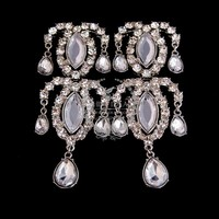 36x90mm vintage crystal victorian filigree silver water drop fashion women chic earrings 2013 6790153