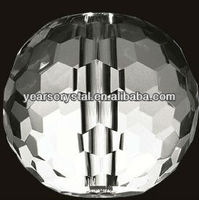 china supply clear ball shape crystal lamp shades for light part (R-2086