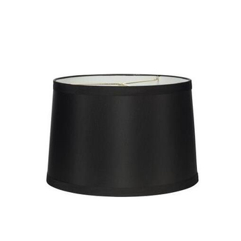 silk black modern USA plastic lampshade with harp