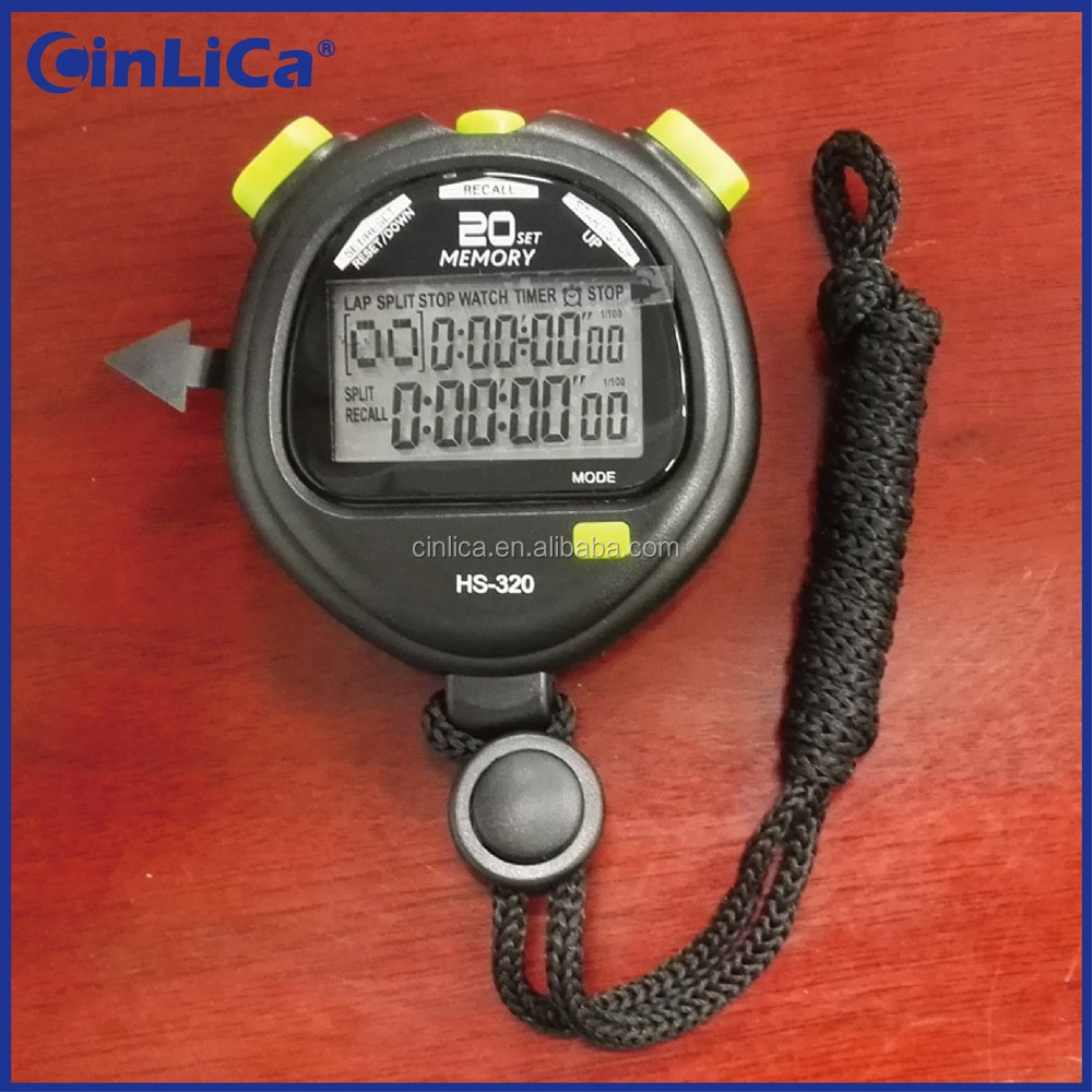 HS-320 two row display 20 laps memory stopwatch timer