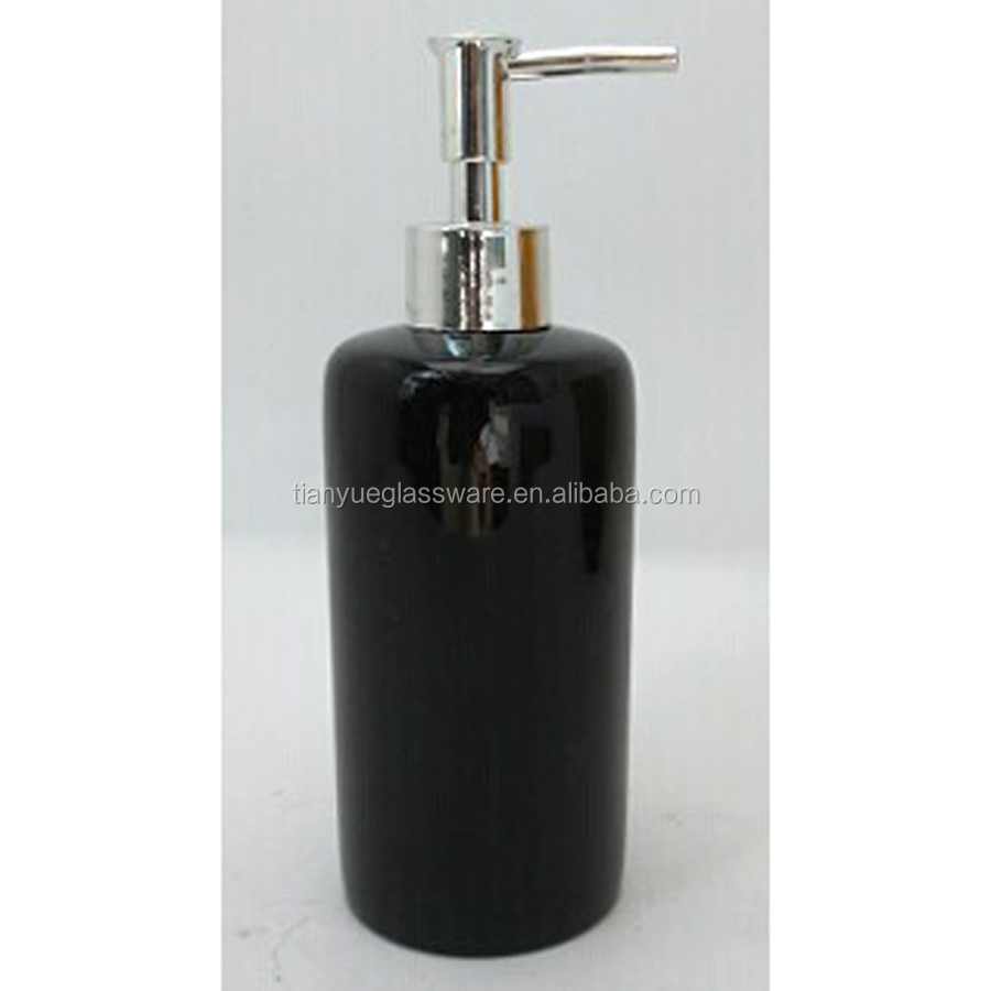 Black Gl Lotion Soap Dispenser With Stainless Steel Bird Pump Head