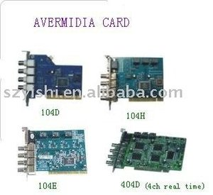 Avermedia MP5000 4CH Real Time DVR Card 404D 100/120fps Video Capture Card