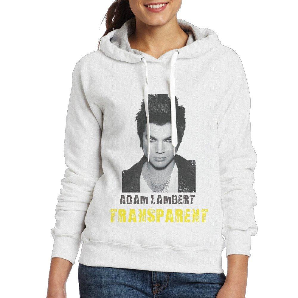 Adam Lambert Women Pullover Hooded Hoodie Sweatshirt White
