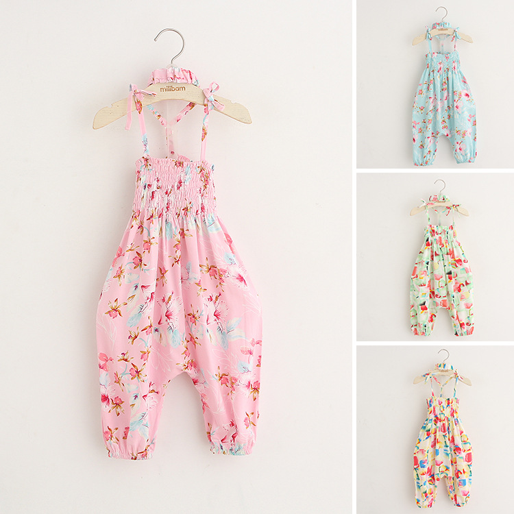 Summer Newborn Baby Girl Jumpsuit Clothing Fantasia Infantil Macacao Roupas De New Born Clothes Baby Girls' Rompers Pants