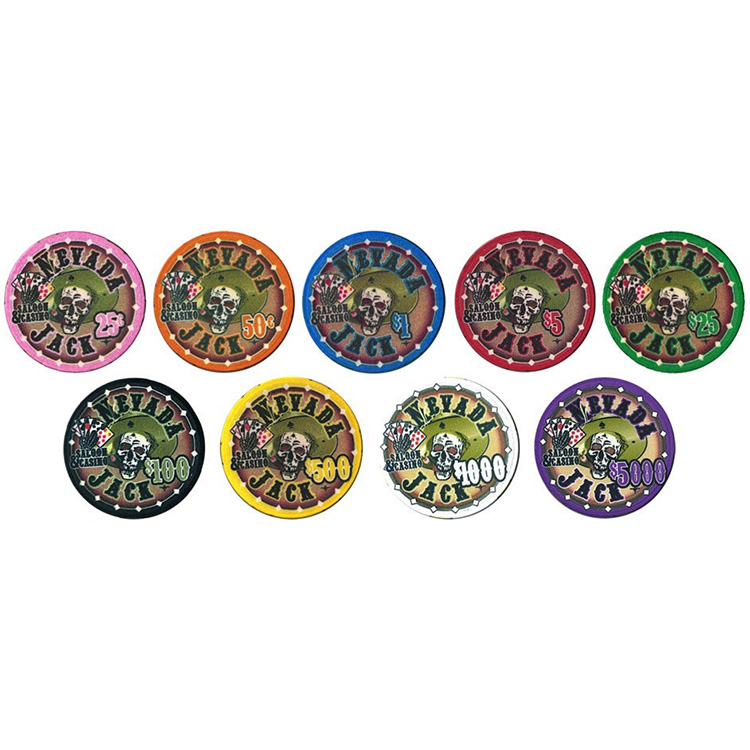 Custom design keramische 500 stuk poker chip set