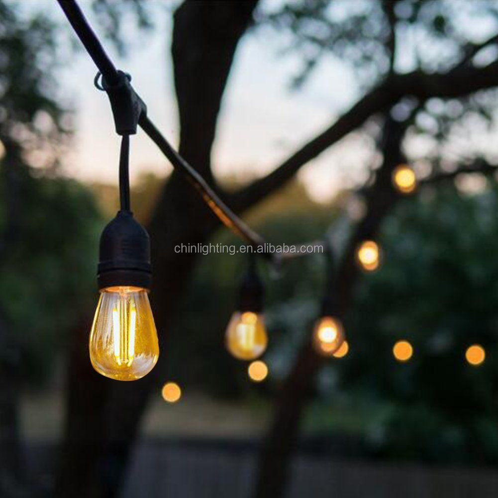 Christmas Tree S14 Festoon Vintage Bulb Waterproof String Light Party E26 E27 Socket Decorative Outdoor Led Garden