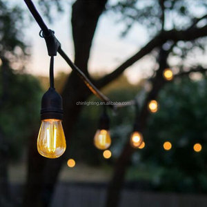 Christmas tree s14 festoon vintage bulb waterproof string light party E26 E27 socket decorative outdoor led garden light