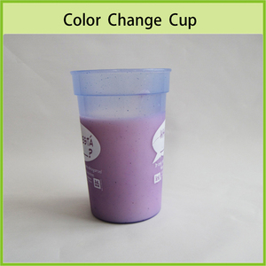 Promotional Gift Colour Change Plastic Cup, Cold Sensitive Mug