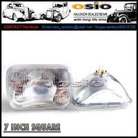 7 Inch Square H4 bulb H6052 H6054 H6002 12V / 24V auto head light halogen sealed beam