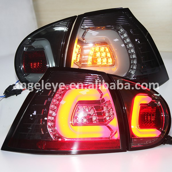 2003-2008 year Led Strip Tail lights for VW Golf 5 LED Tail Lamp Rear light Smoke Black Color SN
