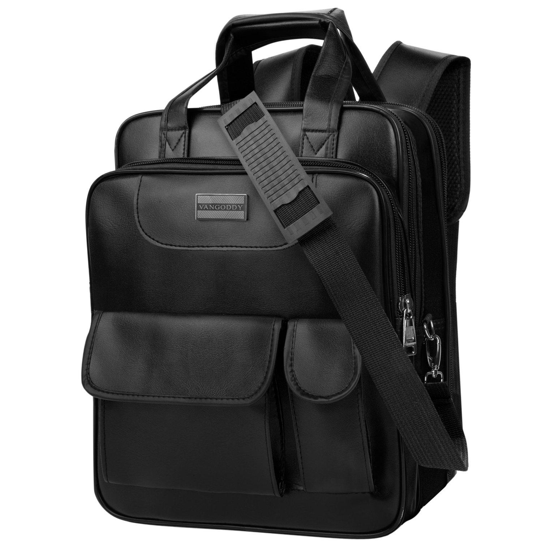Loras Leather Hybrid 3in1 Backpack Messenger Shoulder Bag for Dell Inspiron 11 / 13 / Latitude 11 / 12 / 13 11.6 13.3 Inch Laptop