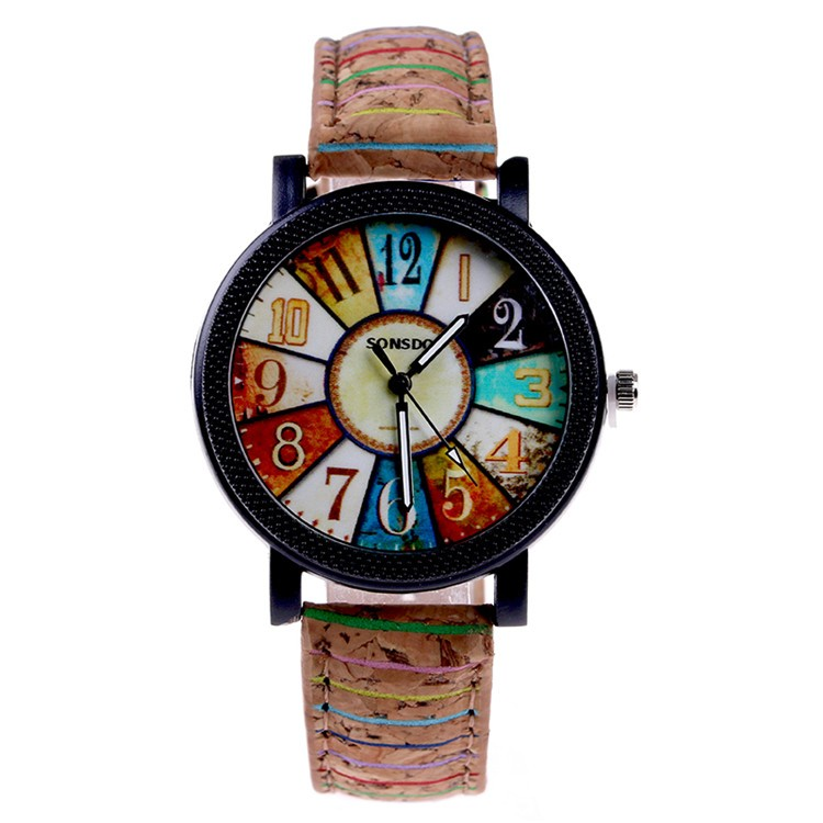 New vintage Chinese wrist watch casual leather band quartz watches for women