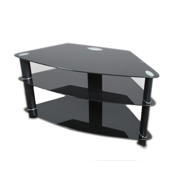 Modern Tv Unit Tv Cabinet Black Cheap Glass Metal Tv Stand Buy