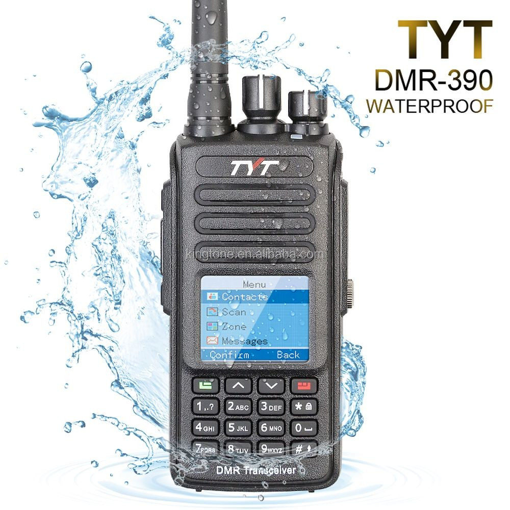 IP 67 waterproof GPS DMR radio MD-390 ! TYT Compatible with MOTOTRBO 2 Tytera MD-390 digital radio transmitter