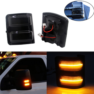 2Pcs LED Rearview Side Mirror Turn Signal Light For Ford F150 F250 F350 F450 F550 Super Duty Car Accessory Driving Parking Light