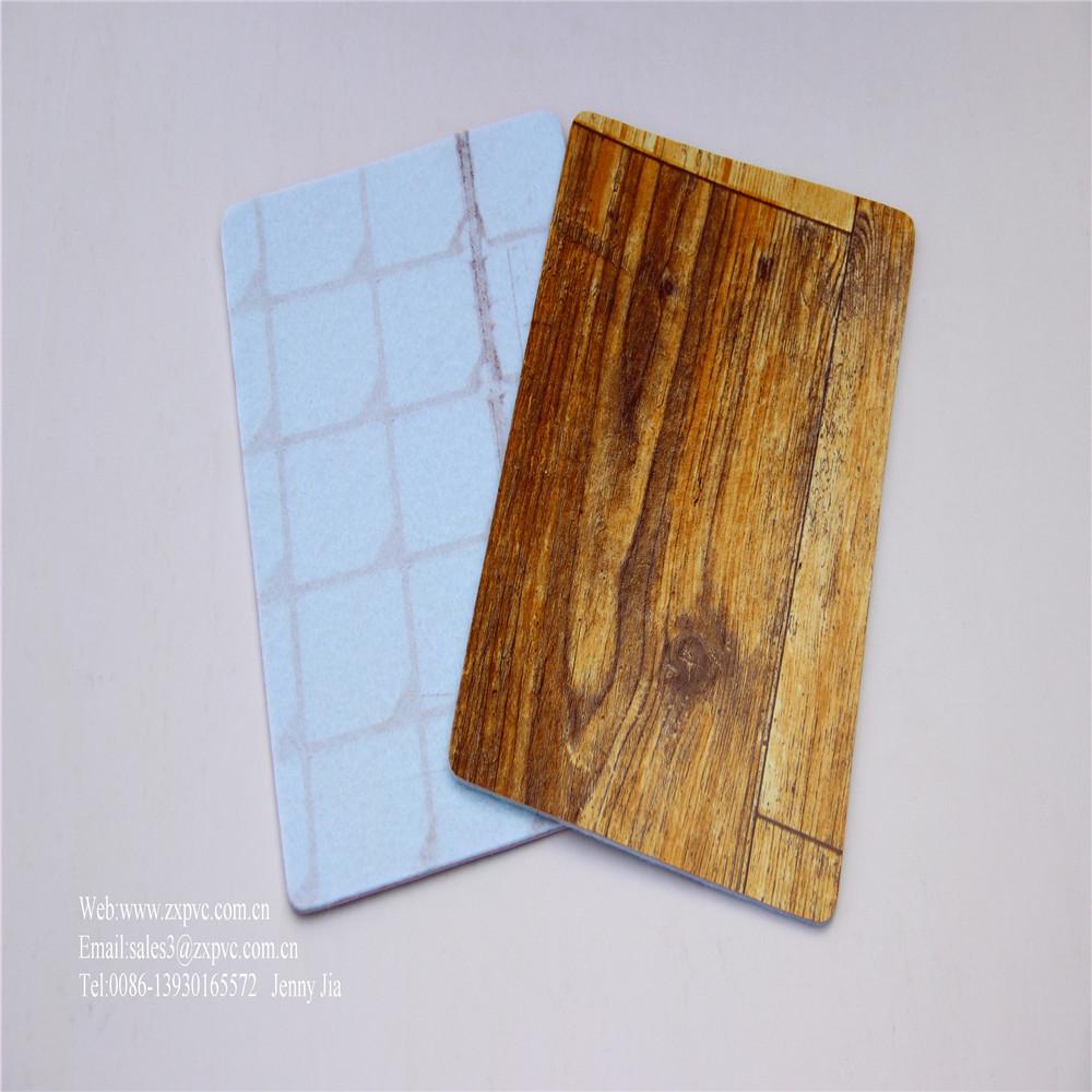 Foam/sponge Back Pvc Wood Floor