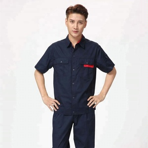 good quality short sleeve navy working uniforms