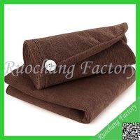 Polyester microfiber hair turban hair drying towel turban towels wrap,hair drying towel