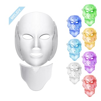 Pro Korea 7 Color Led Photon Light Therapy Machine / LED Face  Facial Mask with Neck
