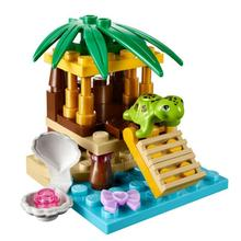 1pc Sea Turtle Oasis Island Mini Figure Kid Baby Toy Building Blocks Sets Model Toys Minifigures Brick