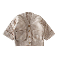Factory OEM Winter Outwear tops Sweaters Button Up Boys' V-Neck Anti-Pill Cardigan Made with Cotton