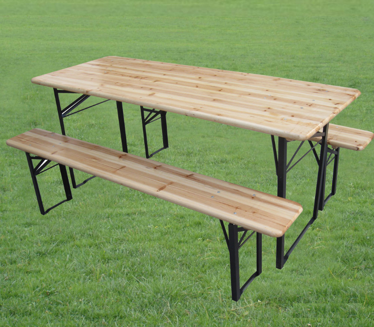 Outdoor Folding Table Set / Garden Beer Table Set,Long Bench And ...