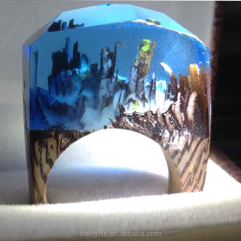 MECYLIFE Unique Secret Magic Forest Fashion Jewelry Wood Ring