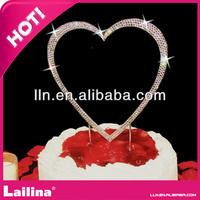 Wholesale Rhinestone Wedding Cake Toppers For Wedding Decoration / valentine decoration
