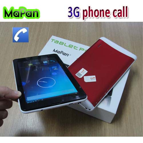 Best 7 inch android tablet 2014 dual core 3g dual sim cards tablet pc MaPan tablet android gps