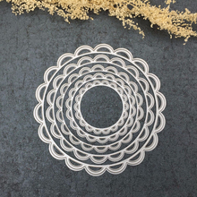 5pcs Openwork Lace Round Multi Layers Scrapbooking Paper Craft Cutting Dies for Card Making