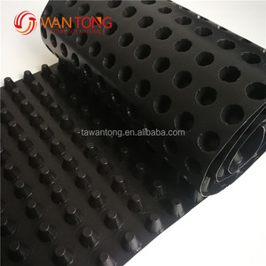 plastic dimpled membrane drainage cell hdpe drain sheet board for roof greening