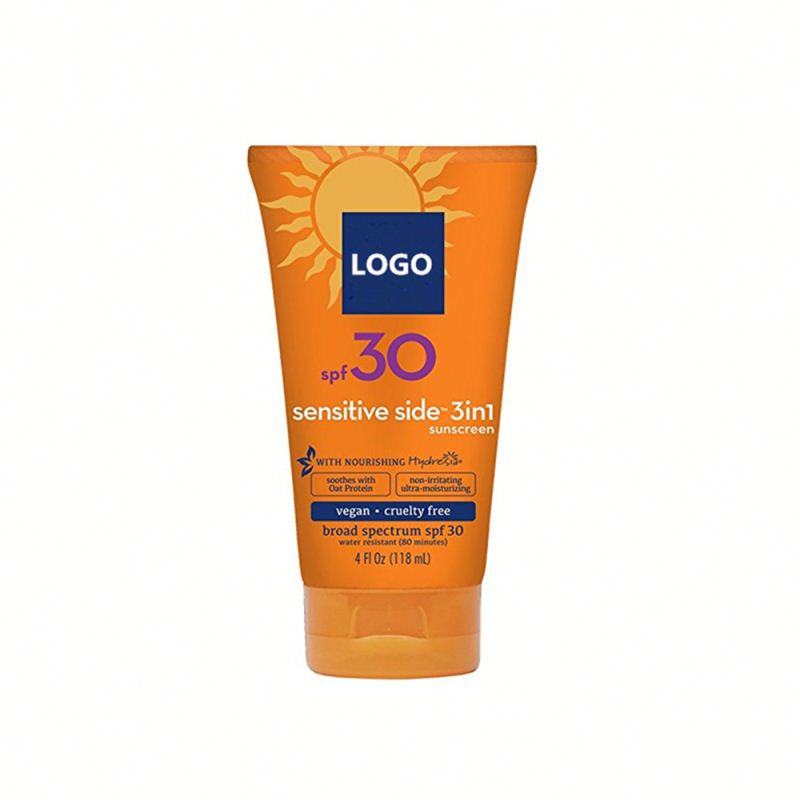 Private Label Natural SPF 30 Sunblock Sunscreen Lotion
