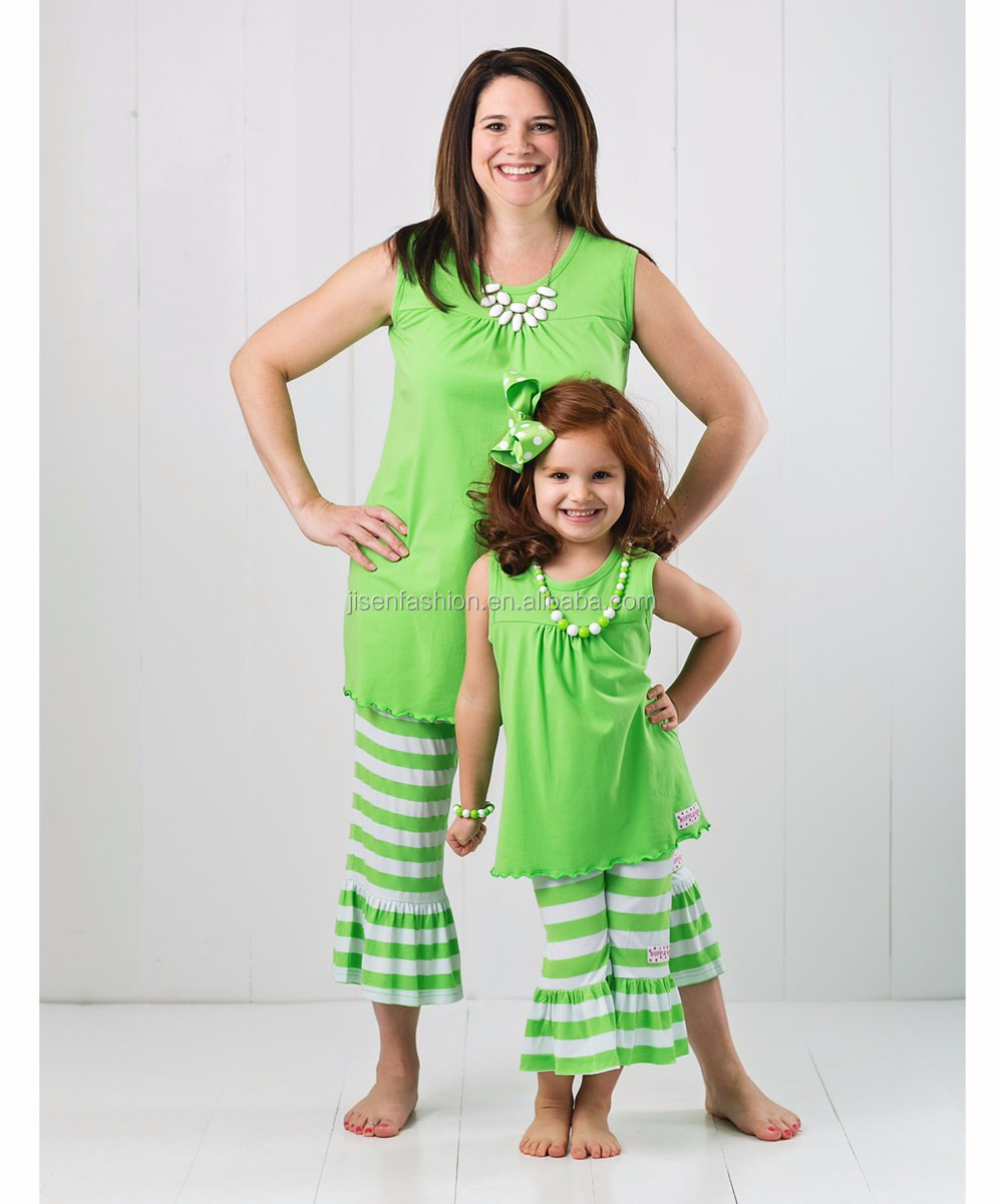 2017 mother daughter t-shirts Short Sets matching mother daughter clothes