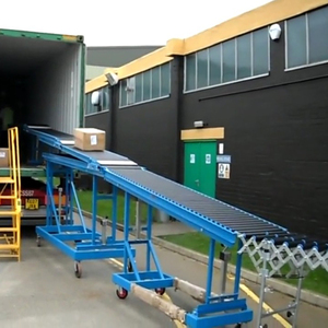 Gravity Flexible Expandable Unloading Full Automatic Roller Conveyor From Container