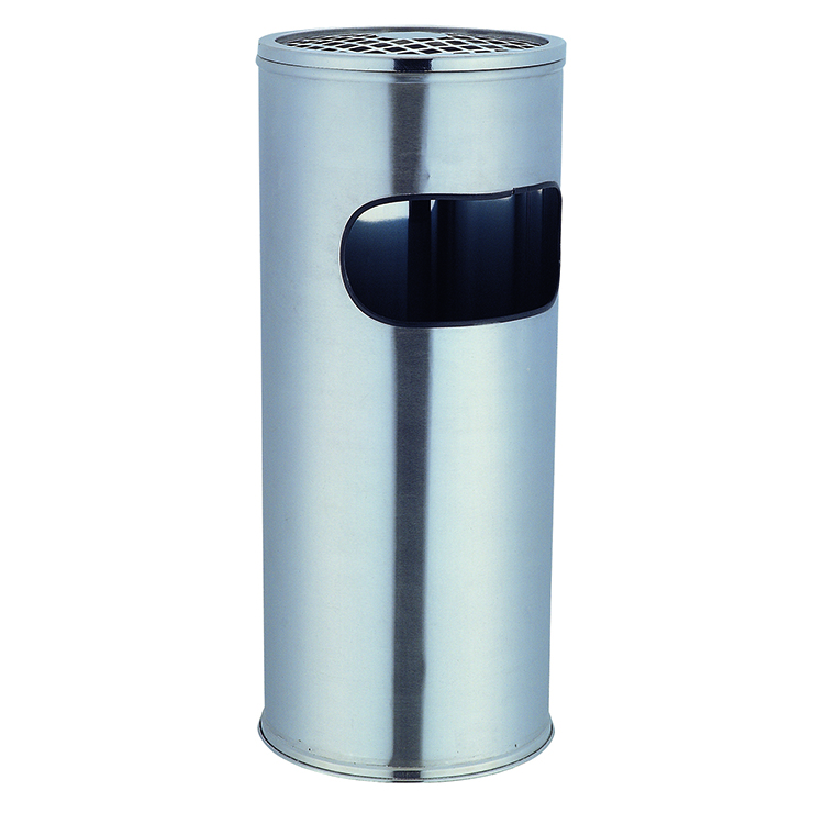 Hotel Lobby Stainless Steel Round Ashtray Bin