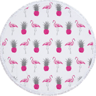 Summer special cool small flamingo round beach towel microfiber
