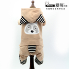 Cute Bear shape four legs pet clothing hoodie winter