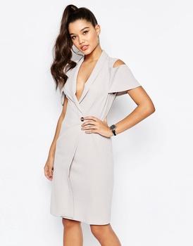 4daeaaa458e 2016 Summer Cold Shoulder Blazer Dress For Women - Buy Summer ...