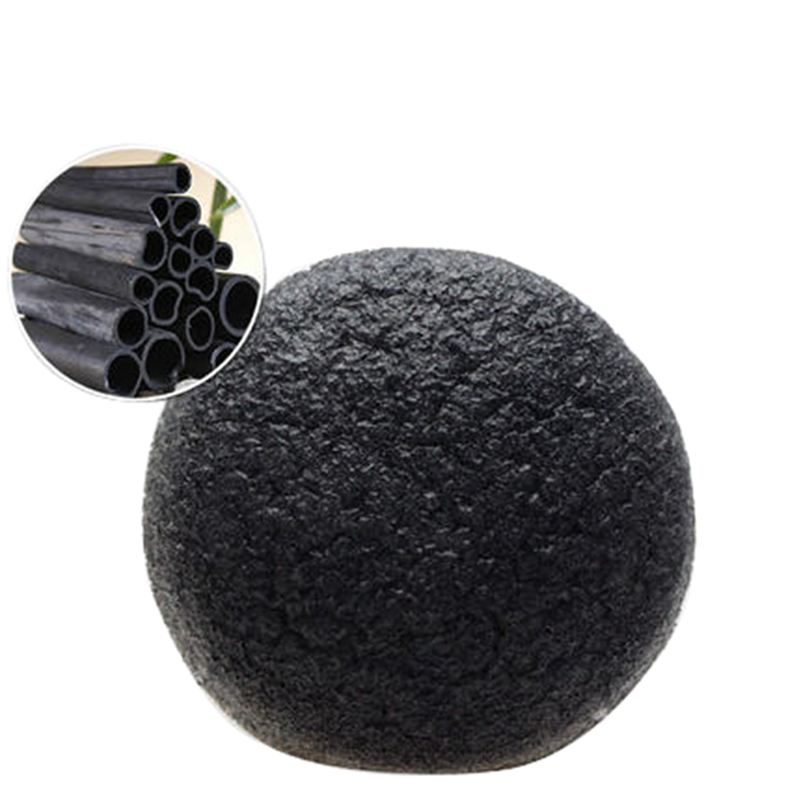 100% Konjac Charcoal Facial Cleansing Sponge Loofah Mesh Bath Sponge Wholesale