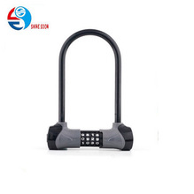 Heavy Duty Combination Bike U Lock, 12mm Bike Lock Bicycle Lock Anti Theft