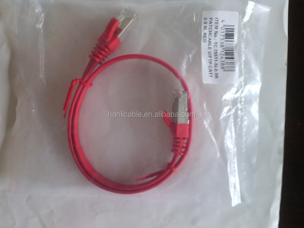 high end rj45 Flat Cat7 U/FTP network cable