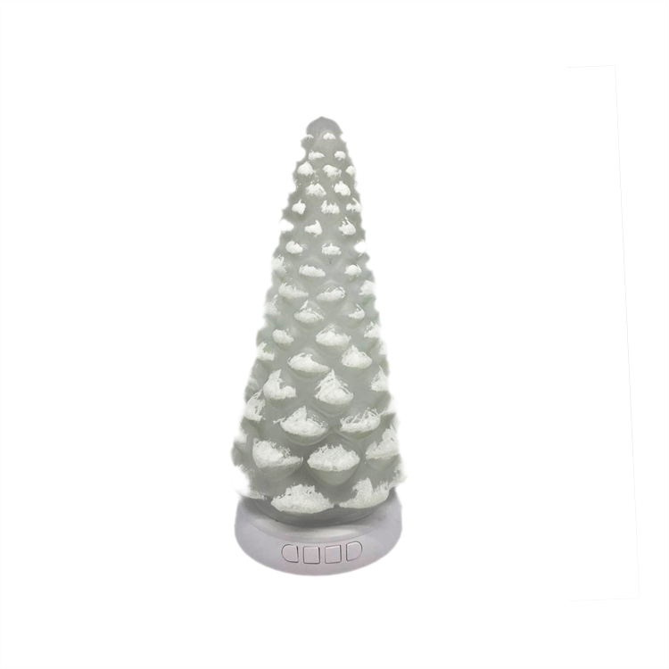 Quality assurance lighted glass christmas tree for family holiday decoration