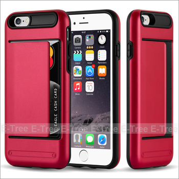 the best attitude 65238 eddf6 Wallet Credit Card Holder Pc Back Tpu Bumper Case Cover For Iphone 6s  Plus,Dual Layer Protective Case For Iphone 6 Plus - Buy Wallet Card Holder  Case ...