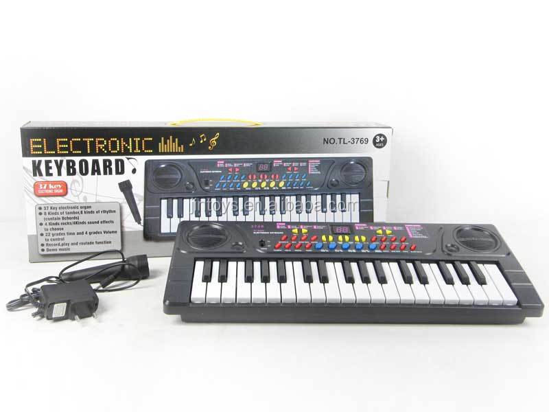 Educational toys 37 Keys Electronic Organ Electronic Keyboard Musical With Microphone, music toys for kids, AM001522